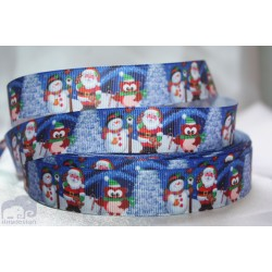 Christmas Snowman Printed Grosgrain Ribbon 22mm -Crafts