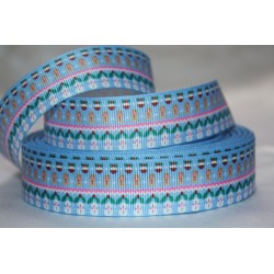 "1 metre 7/8"" Next M2M * Multi Christmas * Grosgrain Ribbon"