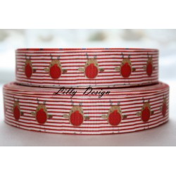 "1 metre 7/8"" Next M2M * Christmas Beard * Grosgrain Ribbon"
