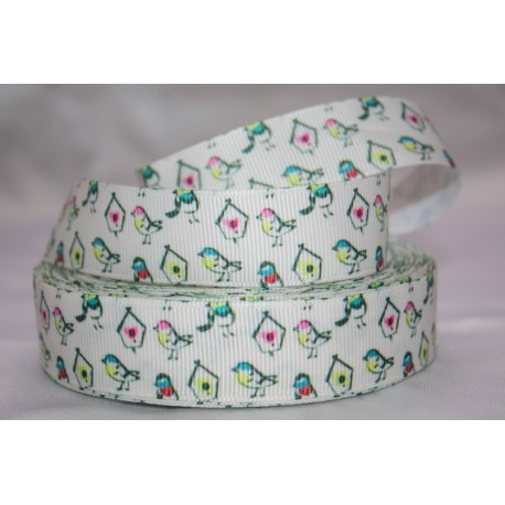 "1 metre 7/8"" Next M2M * BIRD * Grosgrain Ribbon"