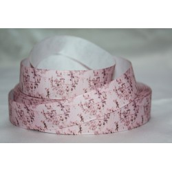 "1 metre 7/8"" Next M2M * Pink/ Brown * Grosgrain Ribbon"
