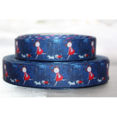 "1 metre 7/8"" Next M2M * Dogi Girl* Grosgrain Ribbon"