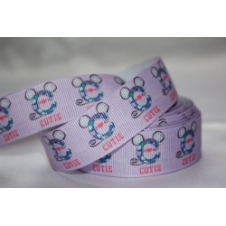 "1 metre 7/8"" Next M2M * CUTIE * Grosgrain Ribbon"