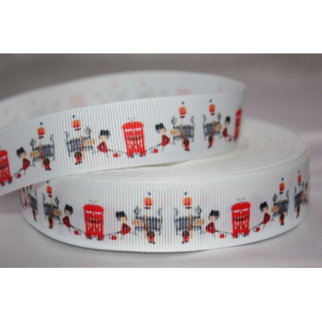 "1 metre 7/8"" - Girl in the post * Grosgrain Ribbon"