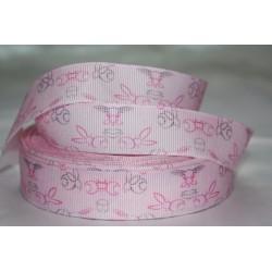 "1 metre 7/8"" Next M2M * Pink Bunny * Grosgrain Ribbon"