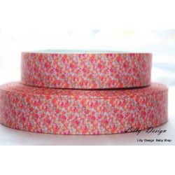 "1 metre 7/8"" Next M2M * ORANGE DITSY * Grosgrain Ribbon"