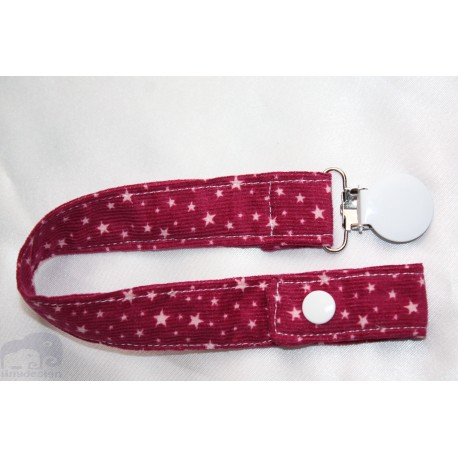 Pink Star Cord Dummy Clip/Holder/Pacifier /Holder/Strap for Baby
