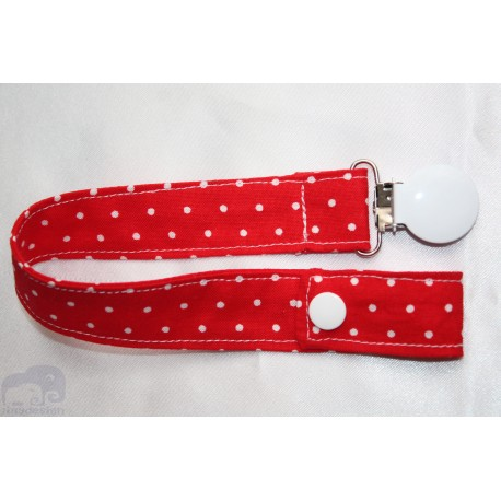 Red Dots Cotton Dummy Clip/Holder/Pacifier /Holder/Strap for Baby