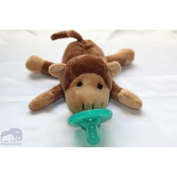 Soft Cozy Plush Toy Pacifier / Good Sleep- MONKEY