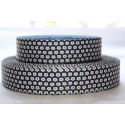 "1 metre 7/8"" Next M2M * NAVY FLOWER * Grosgrain Ribbon"