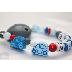 Two Car's Personalised Wooden Dummy clip / Chain