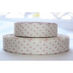 "1 metre 7/8"" Next M2M * Tiny RED Floral * Grosgrain Ribbon"