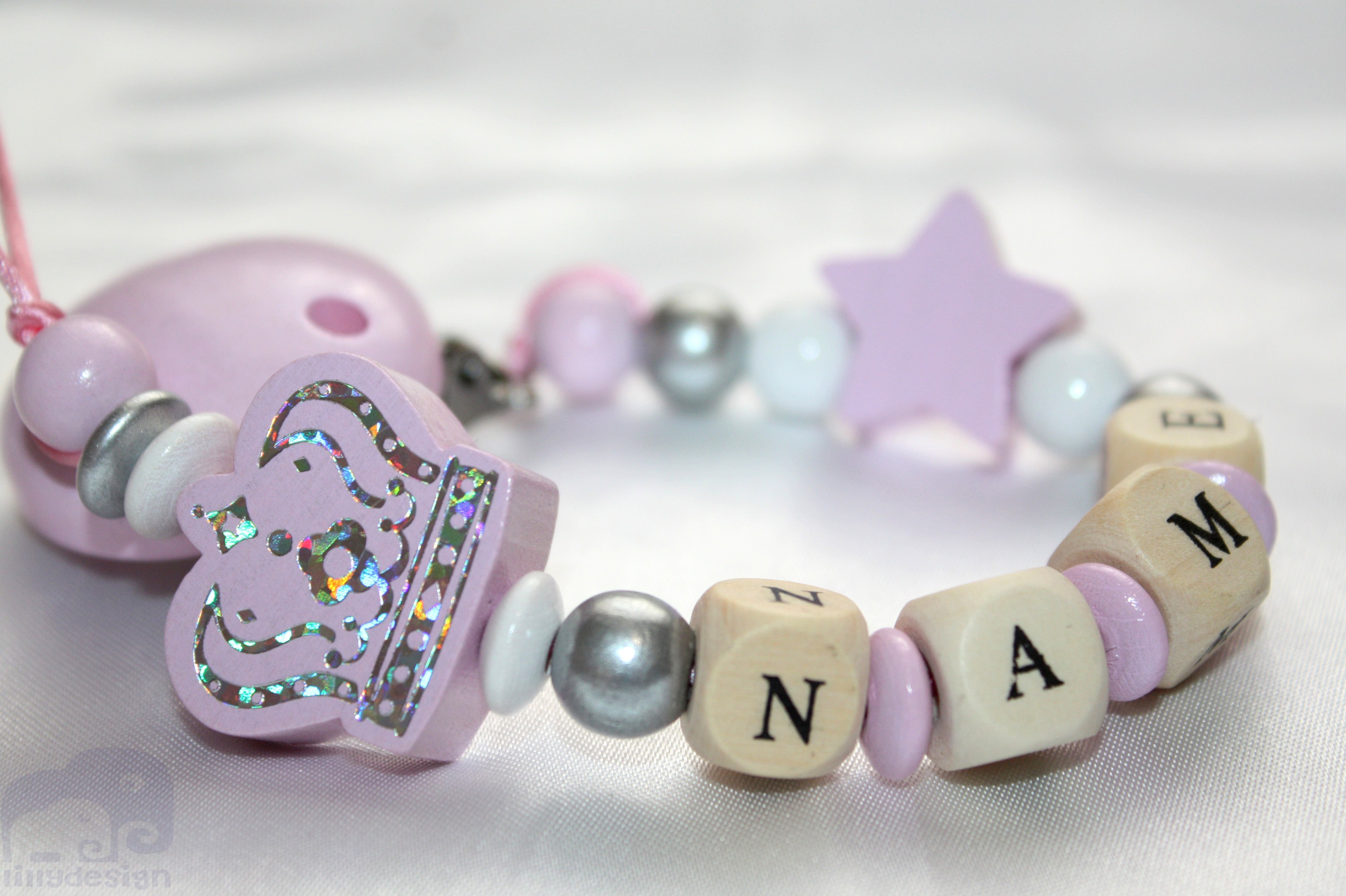 Personalised Cute Dummy Clip for BOYS Holder// Strap Birthday present CHRISTENING