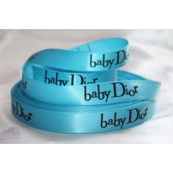 Baby Island Blue Satin Ribbon 5/8``(16mm.) - 1 metre