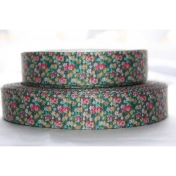 "1 metre 7/8"" Next M2M * BLUE DAISY* Grosgrain Ribbon"