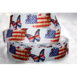 Printed Grosgrain Ribbon 22mm -Crafts