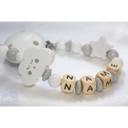 Cloud Personalised Wooden Dummy clip / Chain