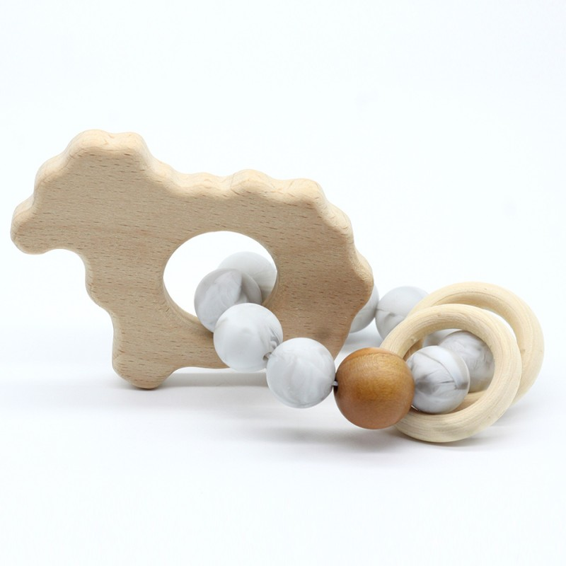 Wooden Baby Bracelet Animal Shaped Jewelry Teething For
