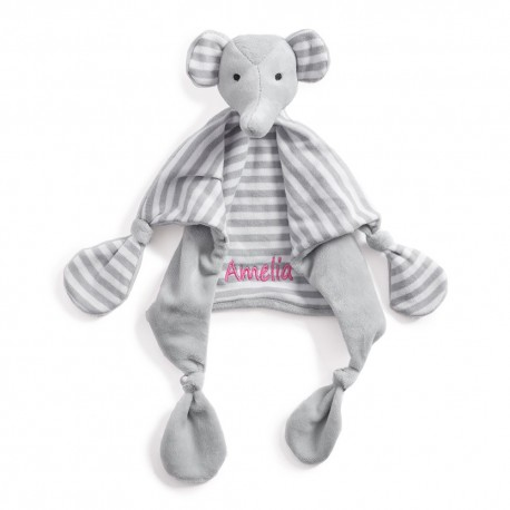 Personalised Elephant Comforter, Baby Blankets