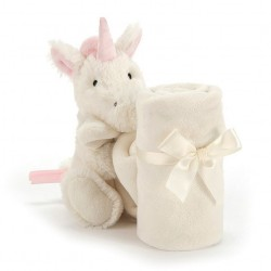 Personalised Jellycat Bashful Unicorn Soother/ Baby Blankets