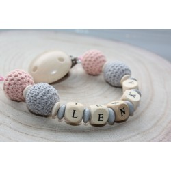 Crochet Personalised Wooden Dummy Chain