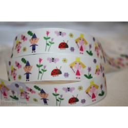 "M2M *BEN & HOLLY and GASTON * 7/8"" Character Grosgrain Ribbon , Crafts - 1m"