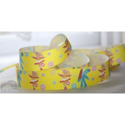 "M2M *UPPSY DAISY & IGGLE PIGGLE * 7/8"" Character Grosgrain Ribbon , Crafts - 1m"