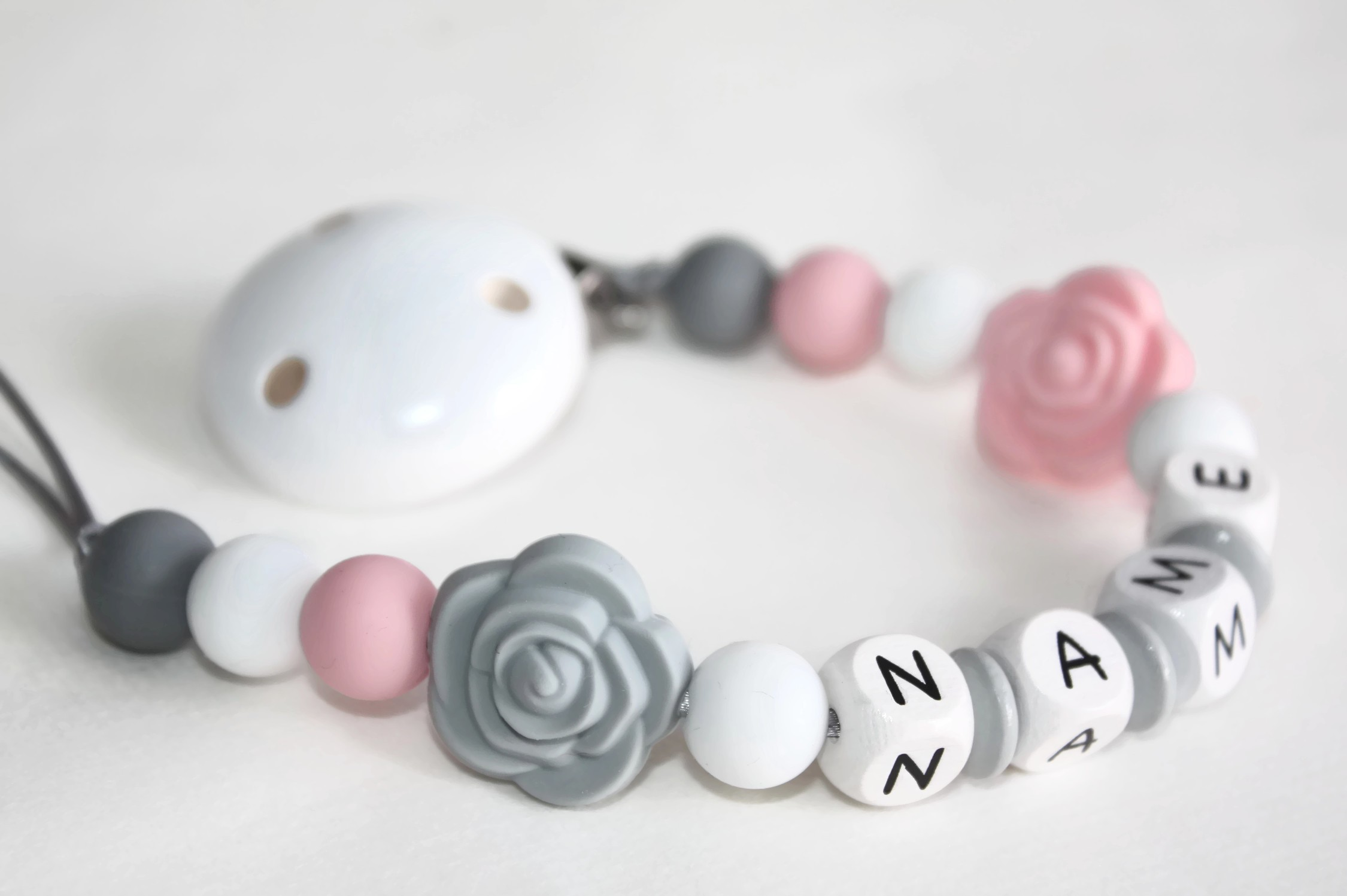 Personalised Silicone Baby Teething Toy Shower Christening Gift