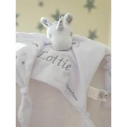 UNICORN Personalised Baby Comforters , Baby Blankets
