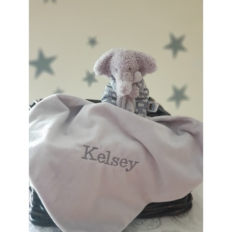 Personalised Jellycat Bedtime Elephant Soother, Baby Blankets