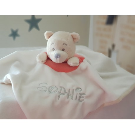 Personalised Winnie The Pooh Baby Comforter / Baby Blanket