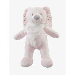 Personalised Plush Bunny Soft Toy with Gift Box- GREY