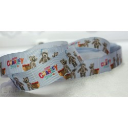 "M2M * CHARLEY BEAR* 7/8"" Character Grosgrain Ribbon , Crafts - 1m"