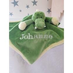 PERSONALISED Teddykompaniet - Diinglisar CROCODILE - Baby Comfort Blanket