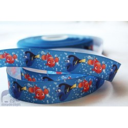 M2M * NEMO* 22mm Character Grosgrain Ribbon , Crafts - 1m