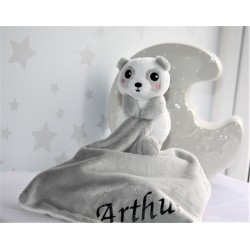 Personalised Baby PANDA Comforter Blanket . Mini Comforter Toys . Newborn Comfort Blanket . Animal Toy