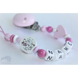 IT'S A GIRL Personalised Wooden Dummy Clip / Chain / Shower Gift