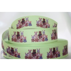 "M2M * SULLIVAN FAMILY* 7/8"" Character Grosgrain Ribbon , Crafts - 1m"