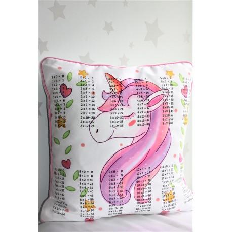 Unicorn Head Times Tables Pillows