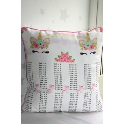 Unicorn Times Tables Pillows, Times Tables. Multiplications ,kids cushions