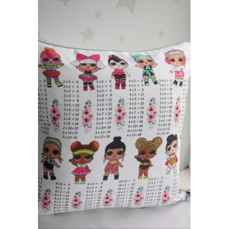 lol Surprise Times Tables Pillows ,Multiplications ,kids cushions, kids gift,