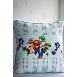 Mario Times Tables Pillows,Multiplications Tables, learning kids, kids cushions