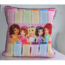 Lego Friends Print Times Tables Chart Pillow Cases Pillowcase, kids pillows,