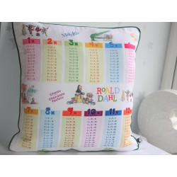 Roald Dahl Print Times Tables Chart Pillow Cases Pillowcase, Kids Pillows