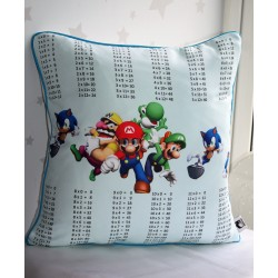 Mario Times Tables Pillows, Multiplications Tables, learning kids, kids cushions