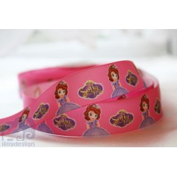 M2M * SOPHIA the FIRST -PINK* 22mm Character Grosgrain Ribbon , Crafts - 1m