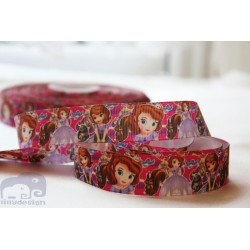 M2M * SOPHIA the FIRST -Colourfull* 22mm Character Grosgrain Ribbon , Crafts - 1m