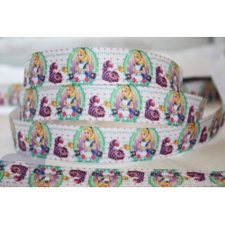 M2M * ALICE in WONDERLAND * 22mm Character Grosgrain Ribbon , Crafts - 1m