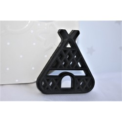 Teepee Teether , Silicone Baby Teether - Black