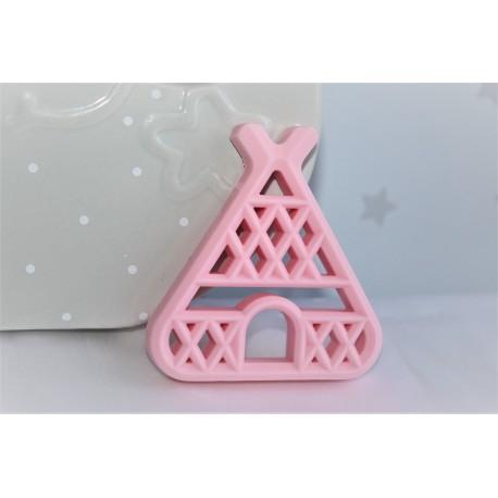Teepee Teether , Silicone Baby Teether - Pink